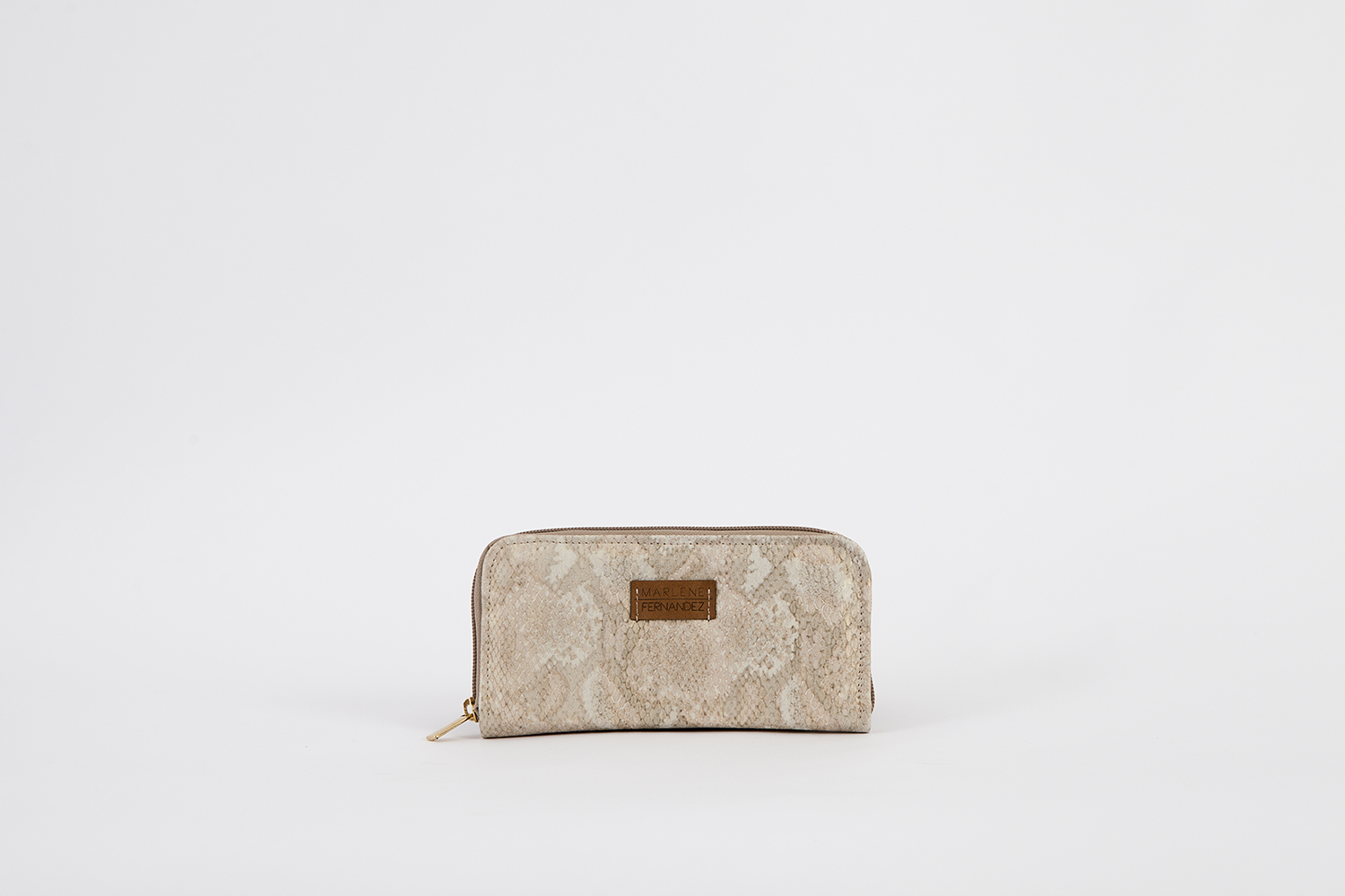 0Wallet snakeprint nude