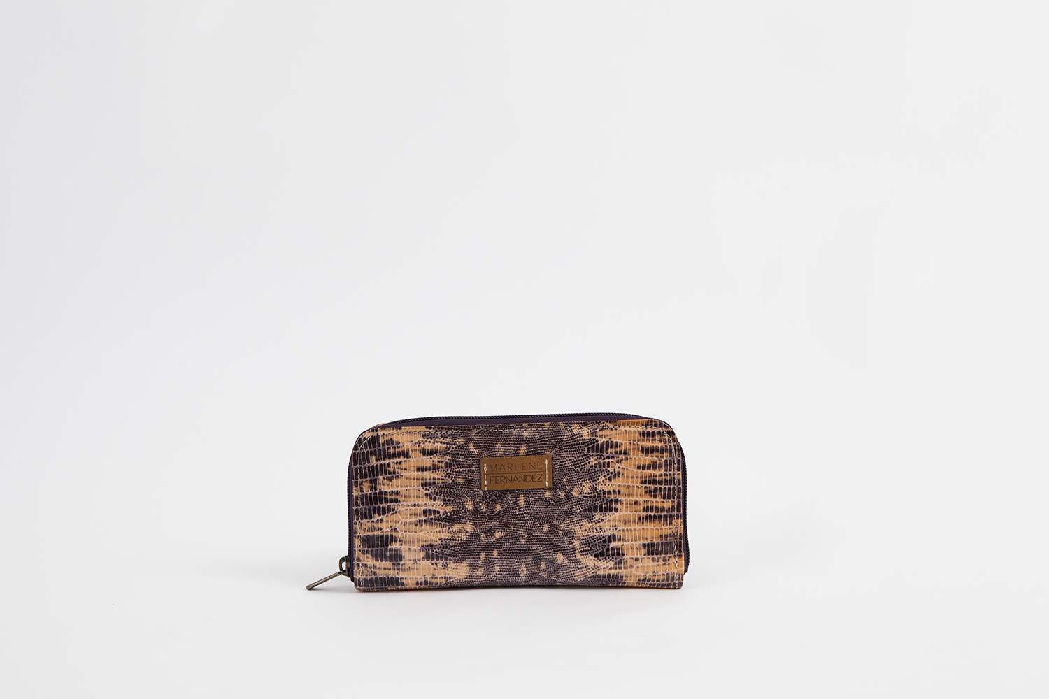 0Wallet snakeprint purple